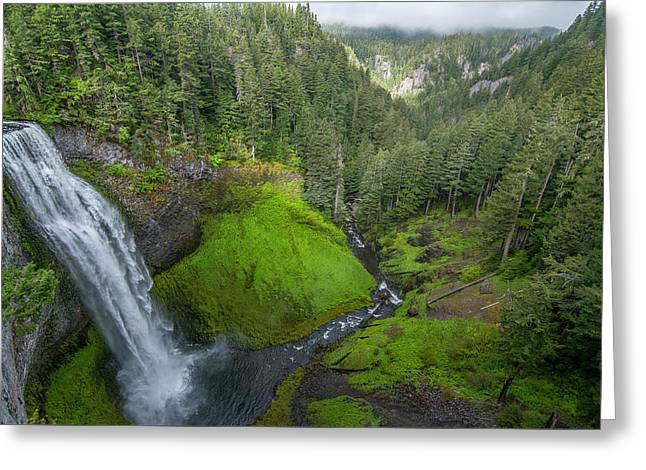 Greeting Card featuring the photograph Salt Creek Falls And Gorge by Matthew Irvin