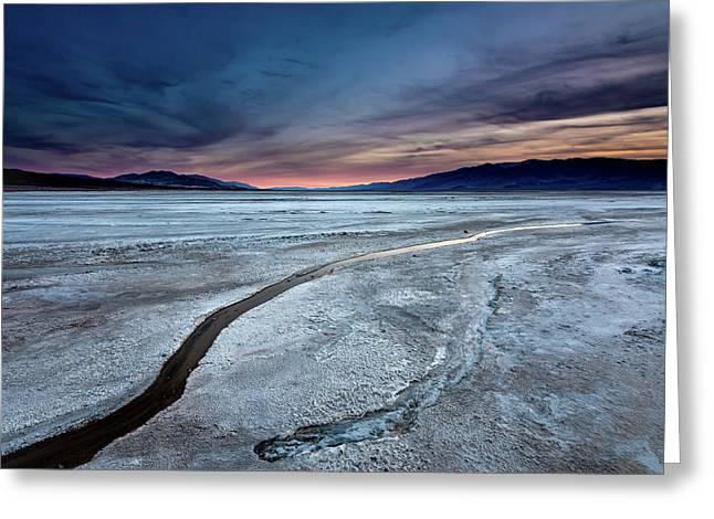 Salt Creek Flats Iv Greeting Card