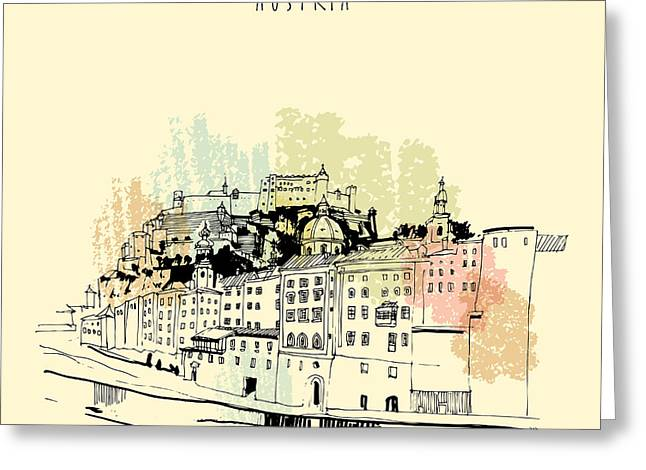 Salzburg, Salzburger Land, Austria Greeting Card