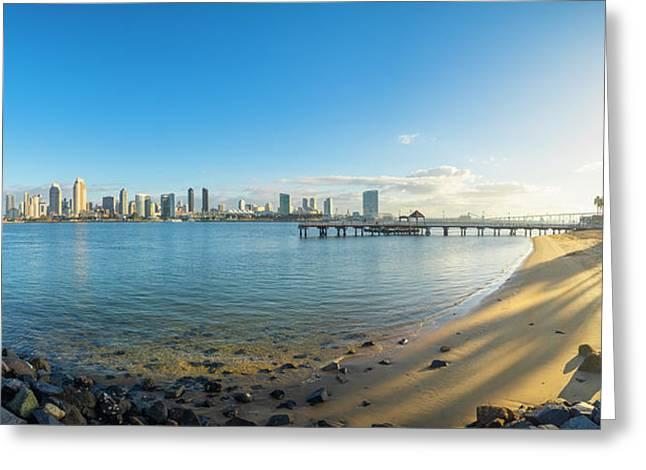 San Diego Bay - Panorama Greeting Card