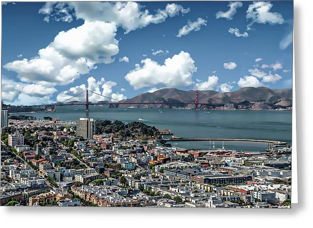 Greeting Card featuring the photograph San Francisco Bay Area by Anthony Dezenzio