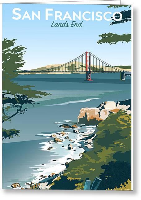 San Francisco Lands End Greeting Card