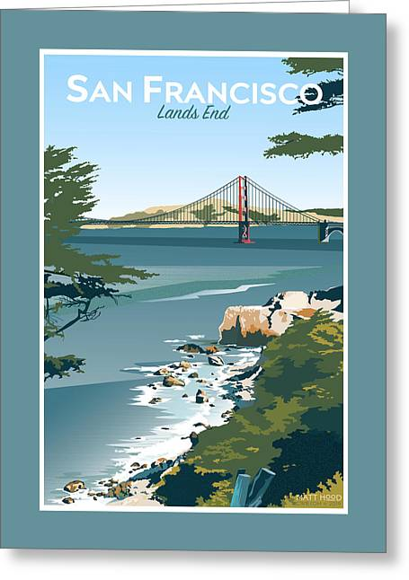 San Francisco Lands End Greeting Card