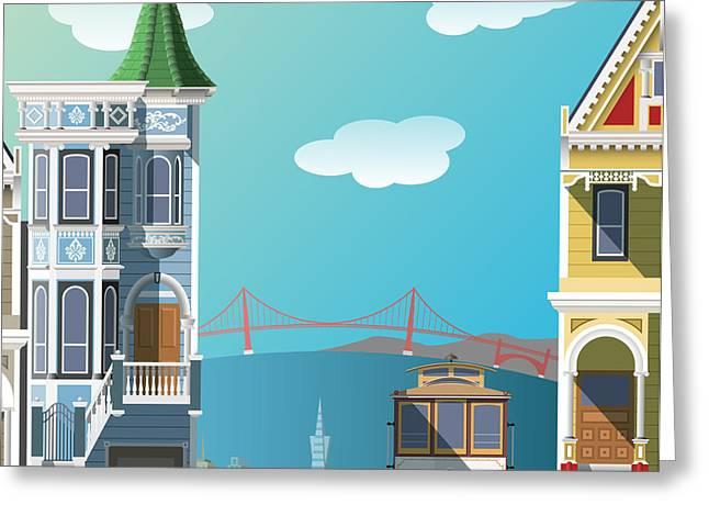 San Francisco Landscape Greeting Card