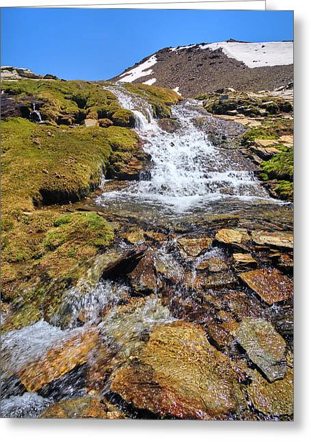 San Juan River. Sierra Nevada National Park Greeting Card