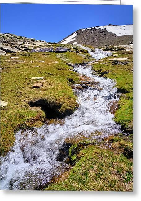 San Juan River. Sierra Nevada. Spain Greeting Card