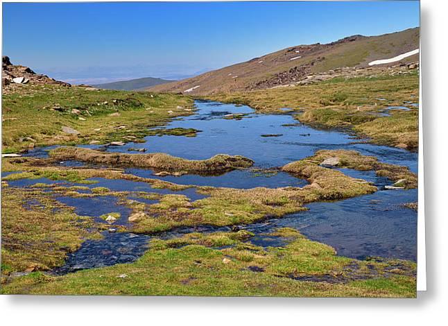 San Juan Valley. Sierra Nevada Greeting Card