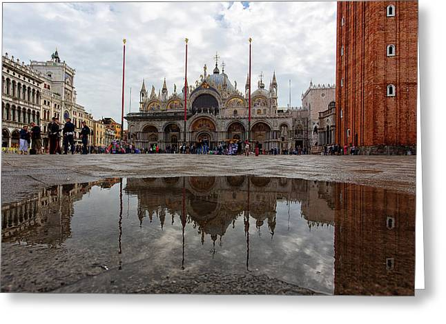 San Marco Cathedral Venice Italy Greeting Card
