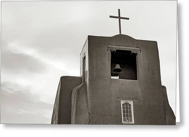 San Miguel Mission Chapel - Santa Fe New Mexico In Classic Sepia Greeting Card