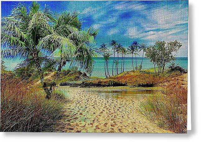 Sand To The Shore Montage Greeting Card