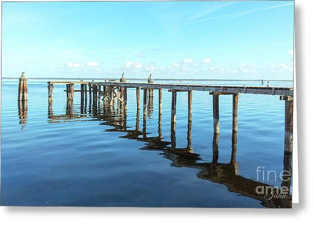 Sanford Abandoned Dock-1628 Greeting Card