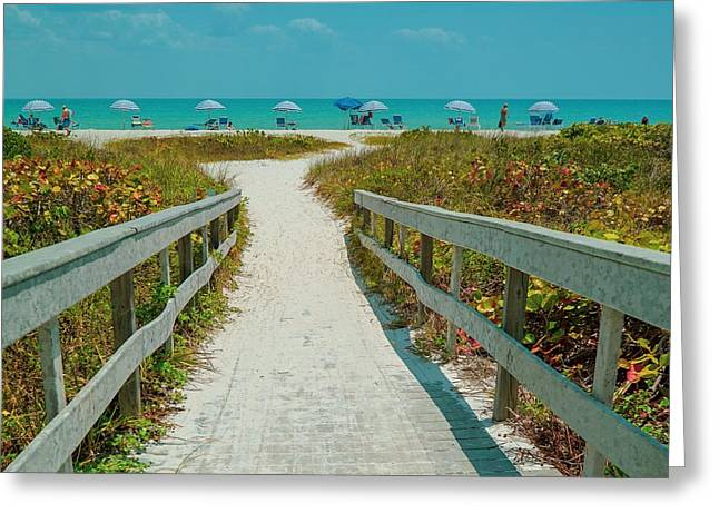 Sanibel Beach Umbrellas Greeting Card