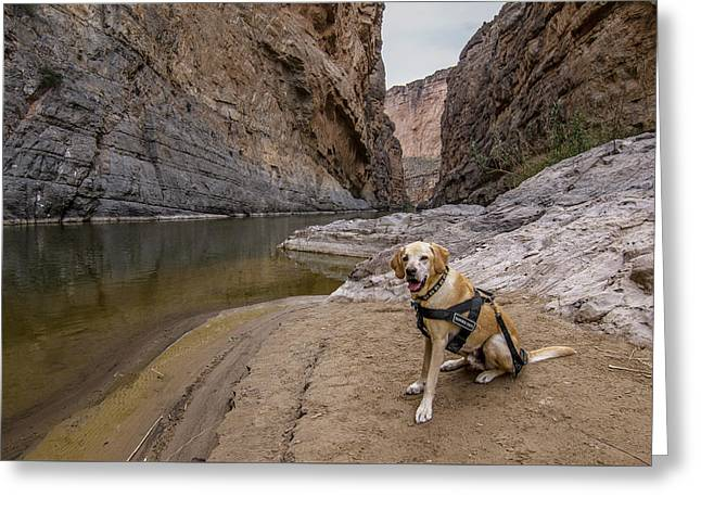 Greeting Card featuring the photograph Santa Elena Canyon by Matthew Irvin