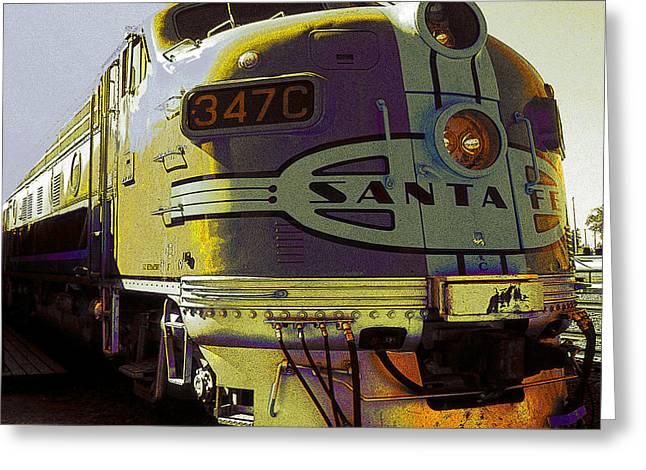 Santa Fe Railroad 347c - Digital Artwork Greeting Card