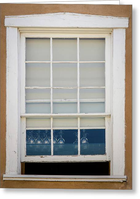 Greeting Card featuring the photograph Santa Fe Window by Jeff Phillippi