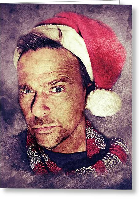 Santa Flanery Greeting Card