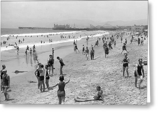 Santa Monica Beach Circa 1920 Greeting Card
