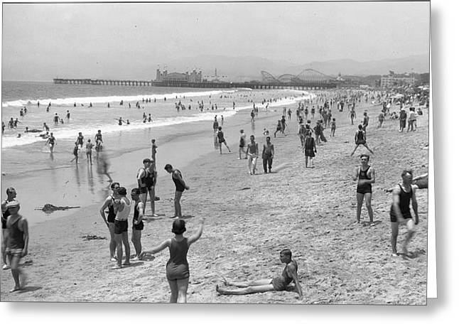 Santa Monica Beach Circa 1920 Greeting Card
