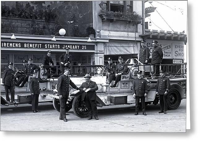 Santa Monica Firemen 1920 Greeting Card
