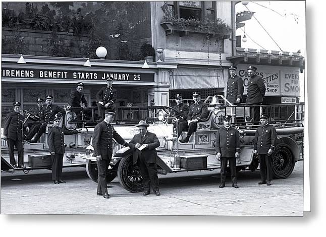 Santa Monica Firemen 1920 Greeting Card