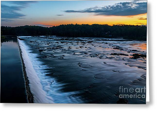 Savannah Rapids Sunrise - Augusta Ga Greeting Card