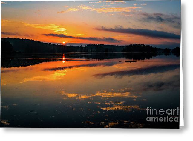 Savannah River Sunrise - Augusta Ga 2 Greeting Card