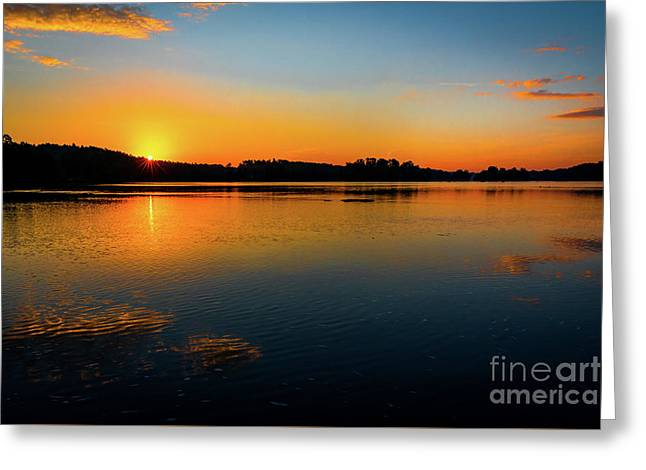 Savannah River Sunrise - Augusta Ga Greeting Card