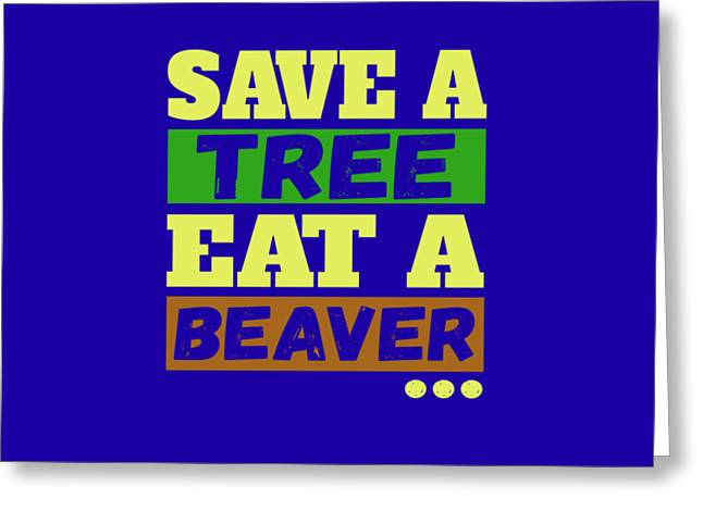 Save A Tree Greeting Card