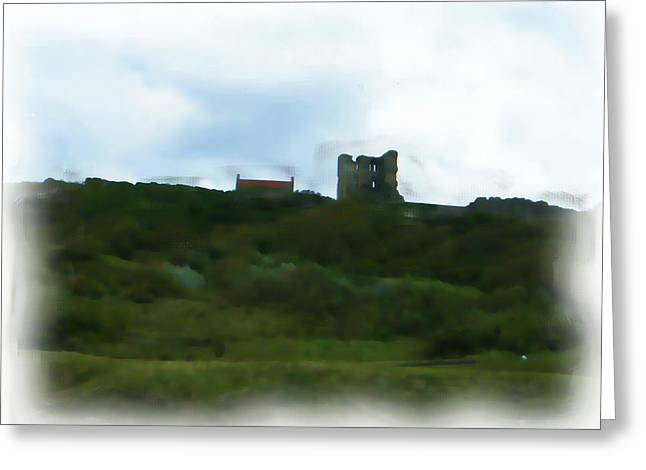 Scarborough Castle Painting Greeting Card