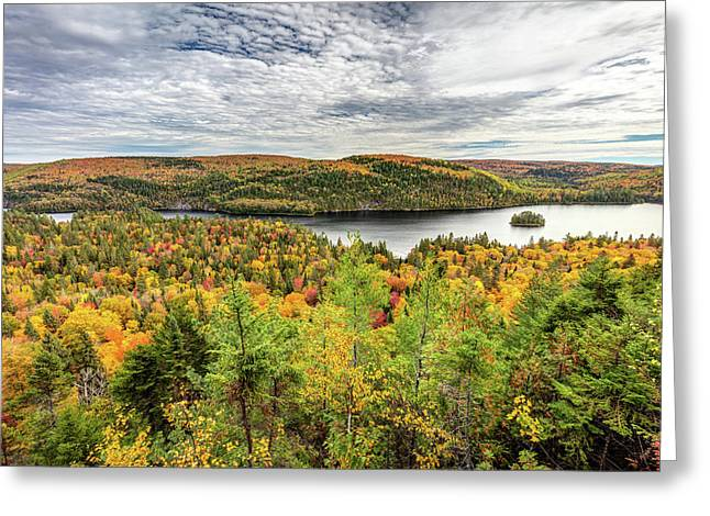 Greeting Card featuring the photograph Scenic Autumn Landscape by Pierre Leclerc Photography