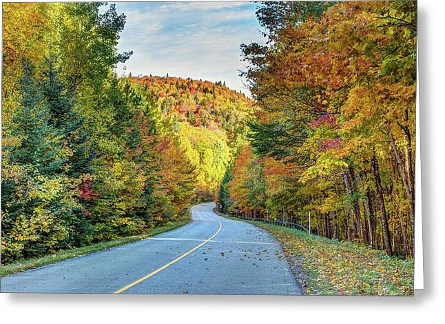 Greeting Card featuring the photograph Scenic Drive In Autumn by Pierre Leclerc Photography
