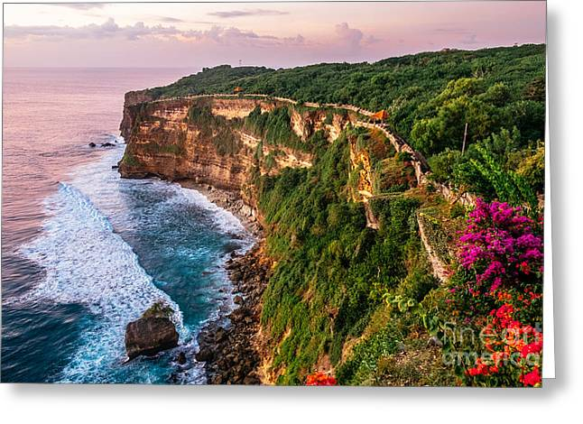 Scenic Landscape Of Fantastic Sunset At Greeting Card