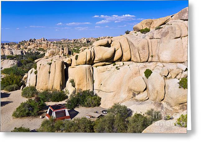 Scenic Rocks In Joshua Tree National Greeting Card