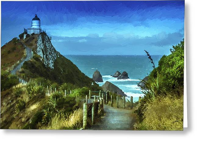 Scenic View Dwp75367530 Greeting Card
