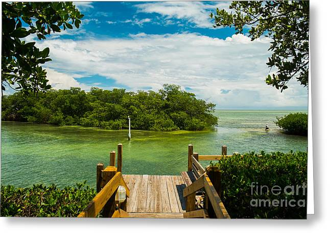 Scenic View Of The Florida Keys With Greeting Card