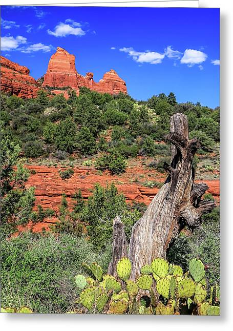 Schnebly Hill View, Sedona Greeting Card