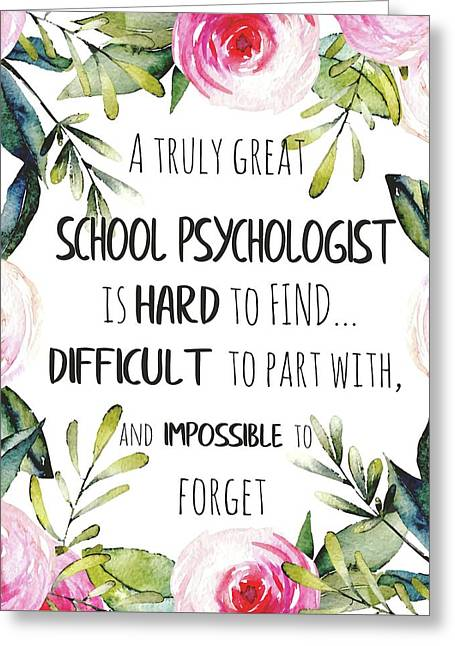 School Psychologist Thank You Note Greeting Card