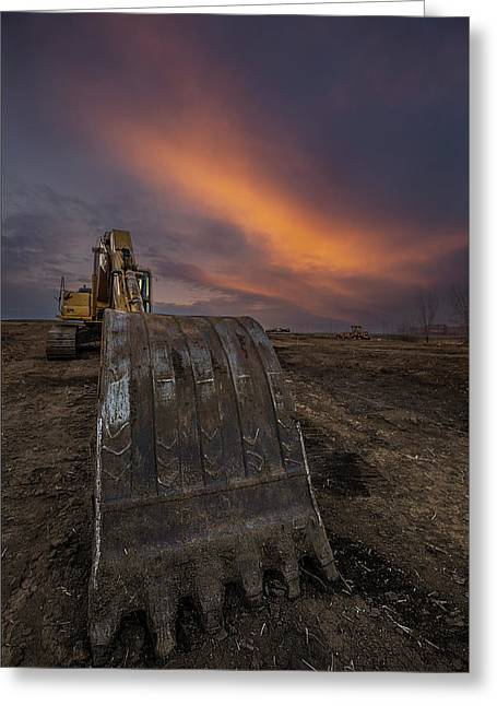 Greeting Card featuring the photograph Scoop by Aaron J Groen