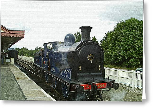 Scotland. Aviemore. Strathspey Railway. Greeting Card