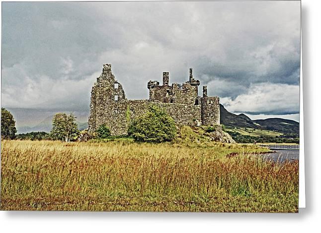 Scotland. Loch Awe. Kilchurn Castle. Greeting Card