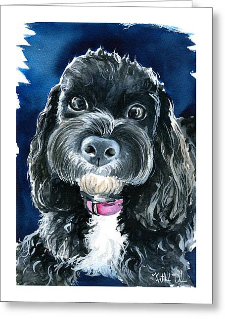 Scout - Cavoodle Dog Painting Greeting Card