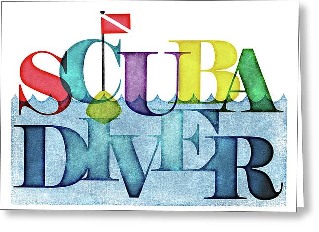 Scuba Diver Colorful Greeting Card