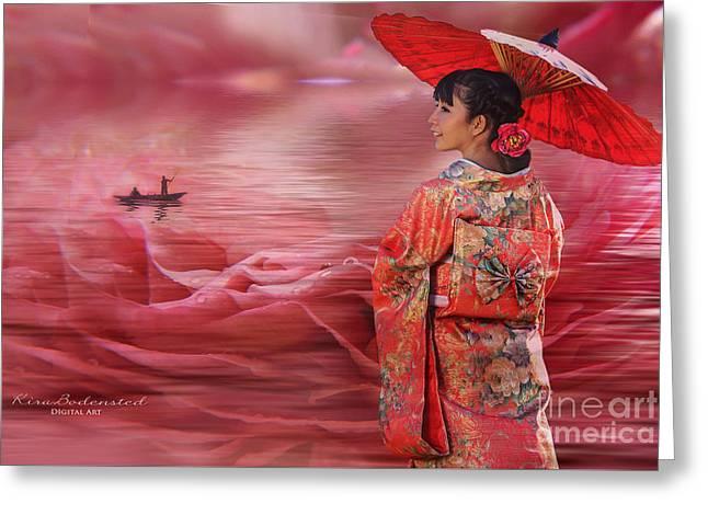 Sea Of Roses Greeting Card