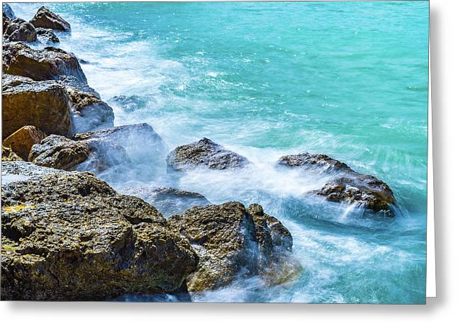 Sea Rocks In Montego Bay Greeting Card