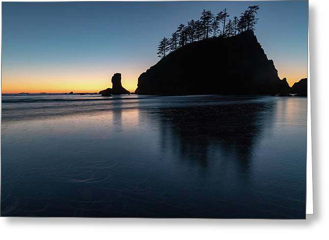 Sea Stack Silhouette Greeting Card