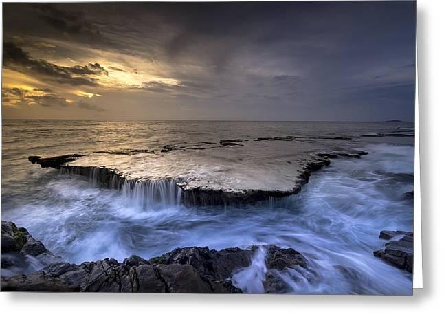 Sea Waterfalls Greeting Card
