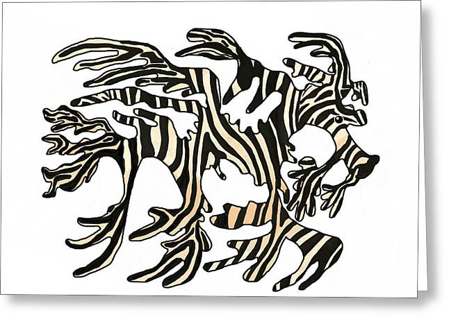 Sea Zebra Dragon 1 Greeting Card