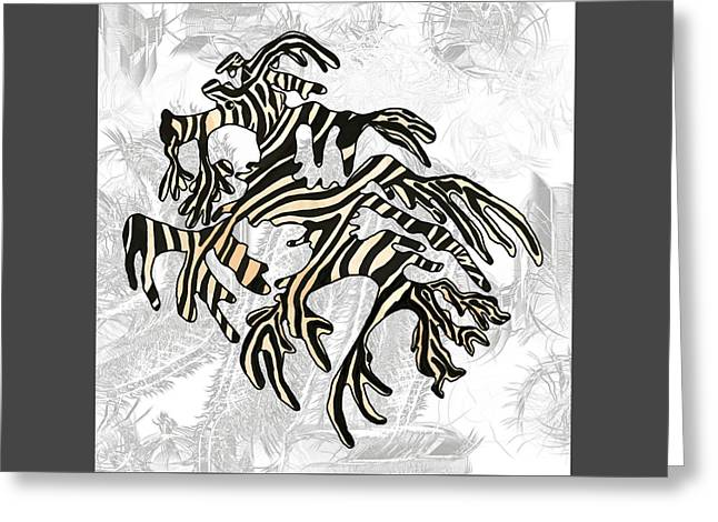 Sea Zebra Dragon 5 Greeting Card