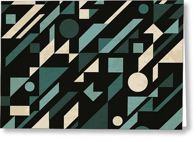 Seamless Abstract Pattern With Greeting Card