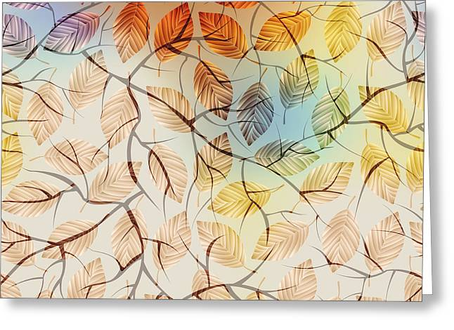 Seamless Background Pattern.  Autumn Greeting Card